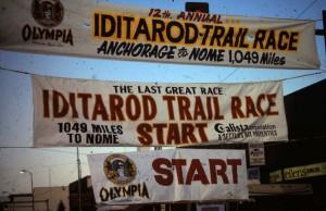 Iditarod 1984 mit Ski und 1988 das Rennen